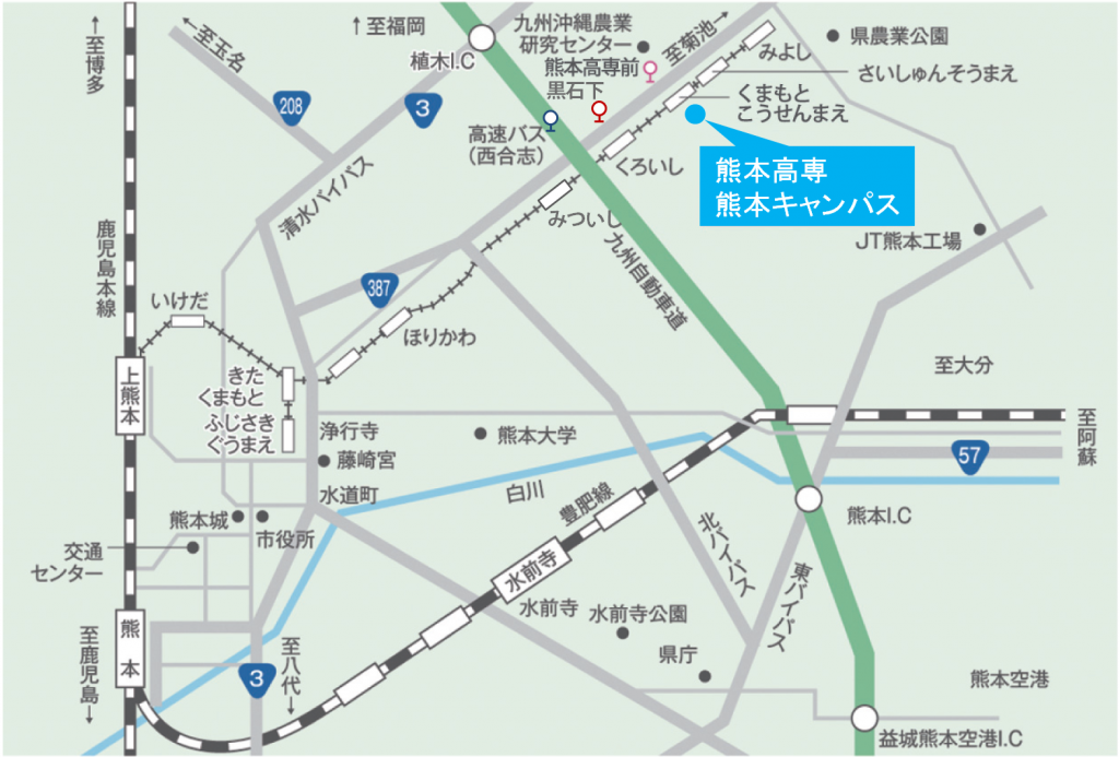 熊本高専 熊本キャンパス 地図