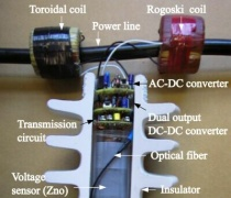 試作した送電線の計測用 非接地電源装置