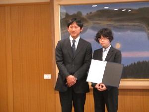 小野副知事と田口さん